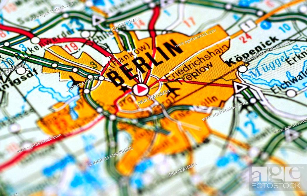 Stock Photo: Map of Berlin Germany.