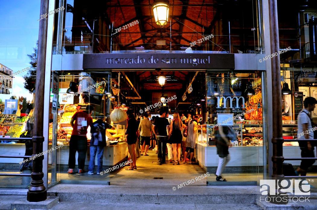 Stock Photo: San Miguel Market. Madrid, Spain.