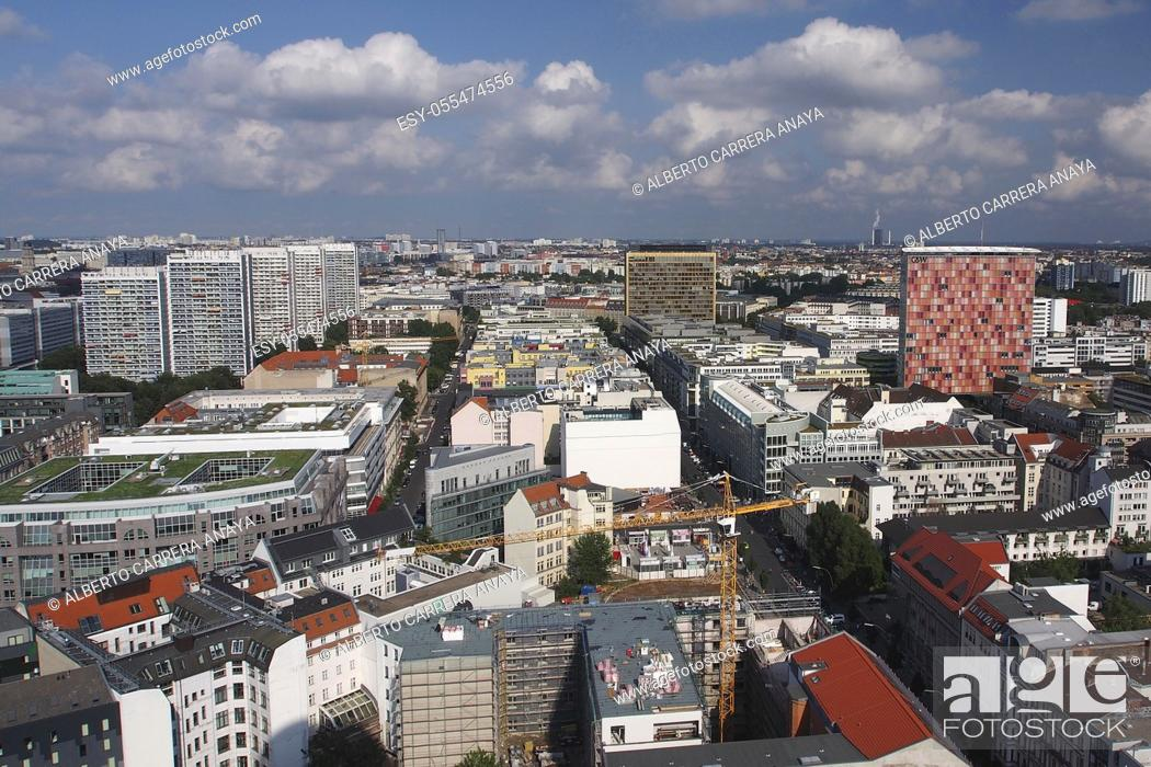Stock Photo: Aerial panoramic view, Berlin, Germany, Europe.