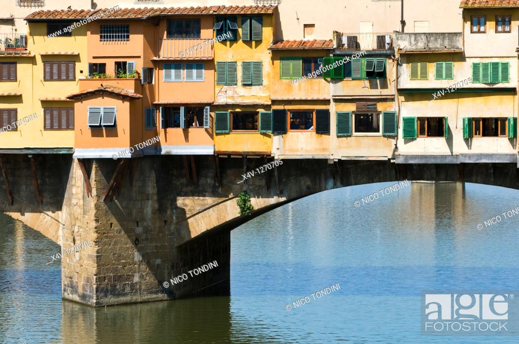 Stock Photo: Ponte Vecchio, Florence Firenze, UNESCO World Heritage Site, Tuscany, Italy, Europe.
