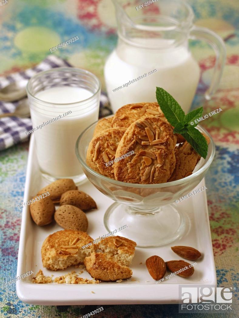 Stock Photo: Almond cookies.