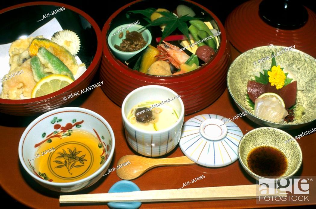 Stock Photo: Japan - The west of Honshu - Nara - Gastronomy - Tempura Restaurant.