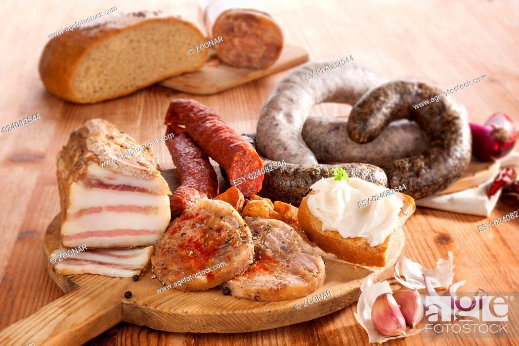 Stock Photo: Meat assortment.