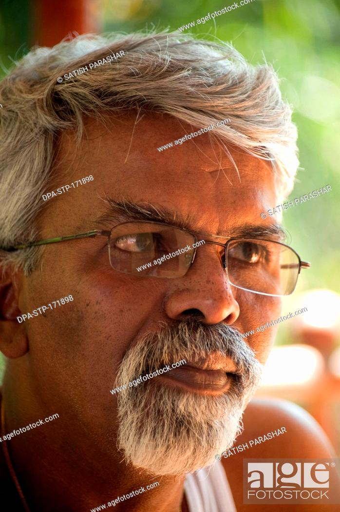 Stock Photo: Portrait of mohan khot sculptor ; painter and mural artist MR556.