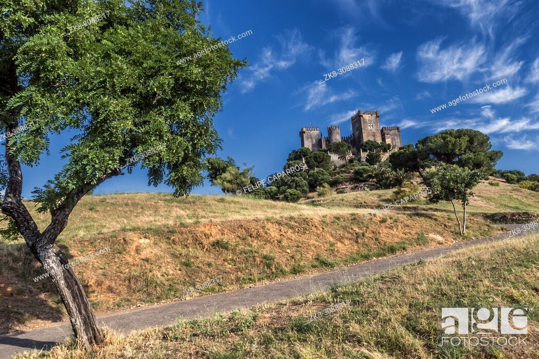Stock Photo: Castle of Almodovar del Rio, It is a fortitude of Moslem origin, it was a Roman fort and the current building has definitely origin Berber.