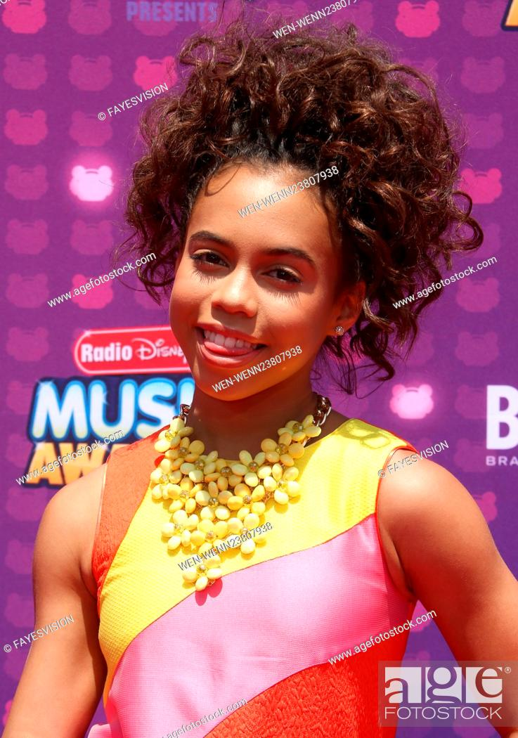 Stock Photo: 2016 Radio Disney Music Awards at the Microsoft Theater - Arrivals Featuring: Asia Monet Ray Where: Los Angeles, California.