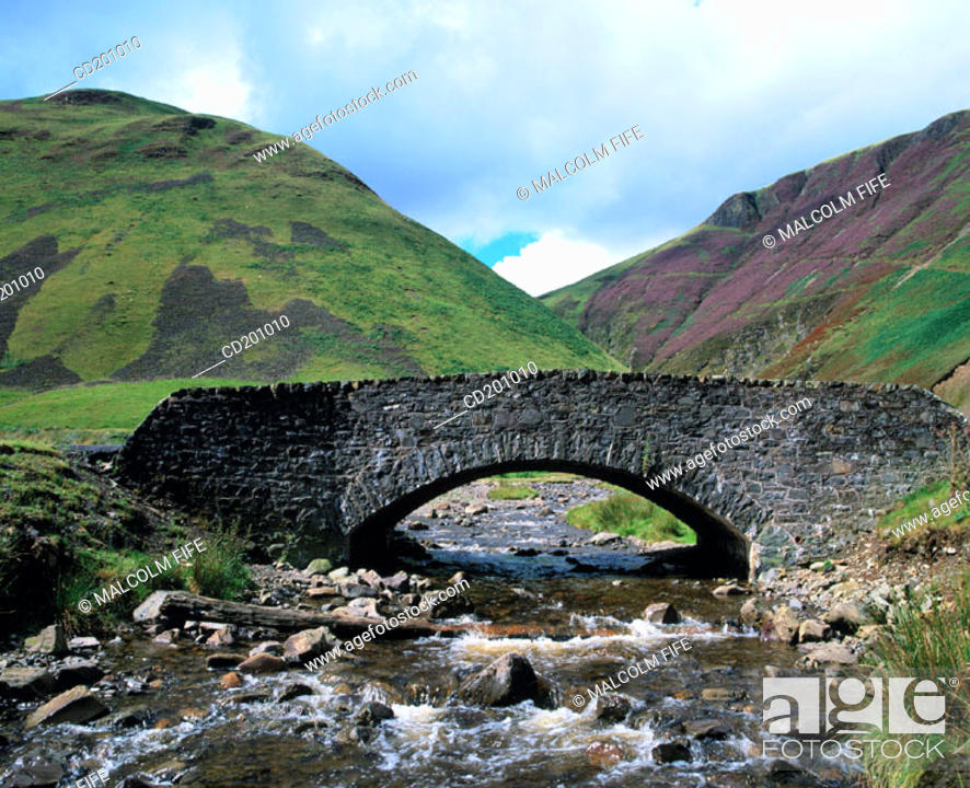 Stock Photo: Old bridge near Moffat. Dunfries and Galloway. Scotland.