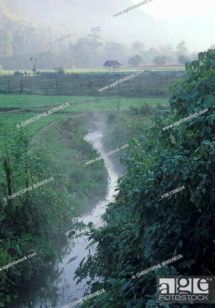 Stock Photo: Mae Hong Son region, Thailand.
