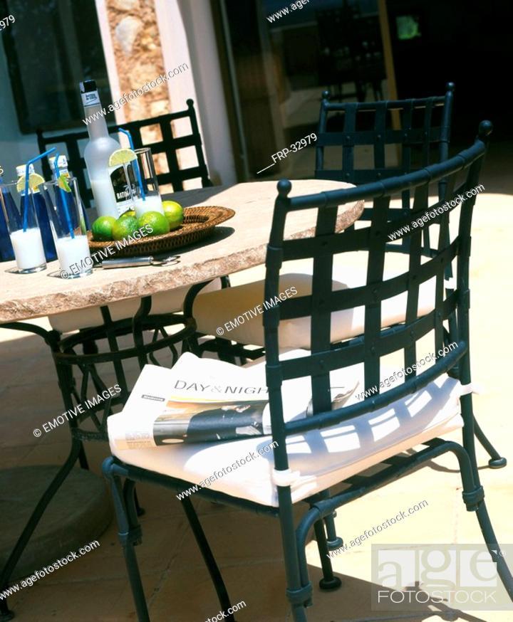 Stock Photo: Garden furniture.