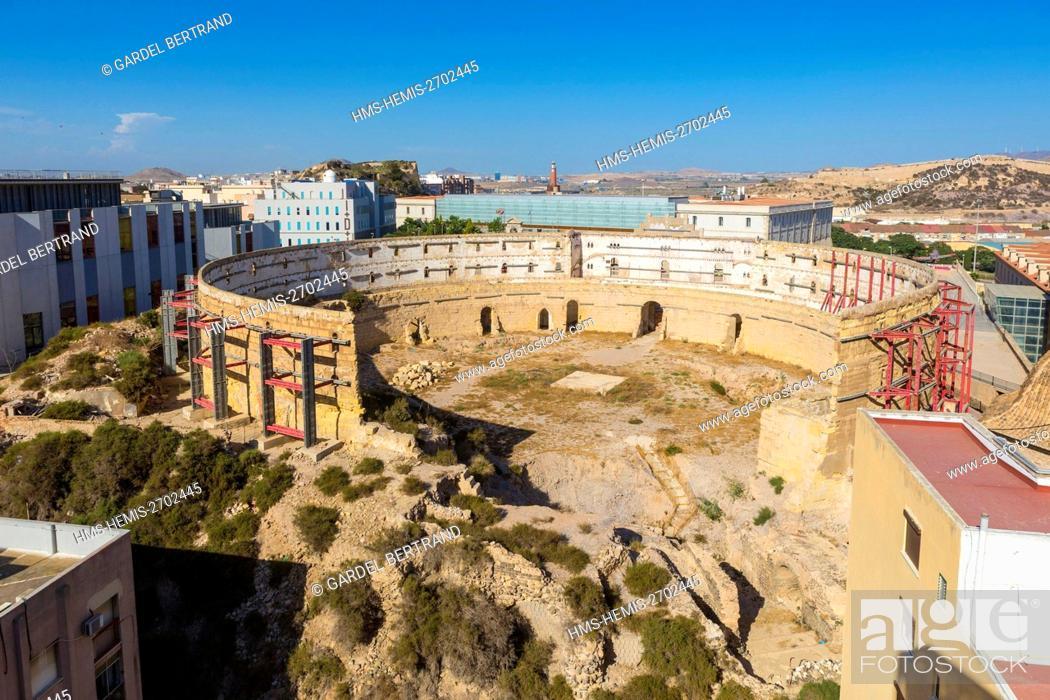 Stock Photo: Spain, Murcia Community, Cartagena, arenas.