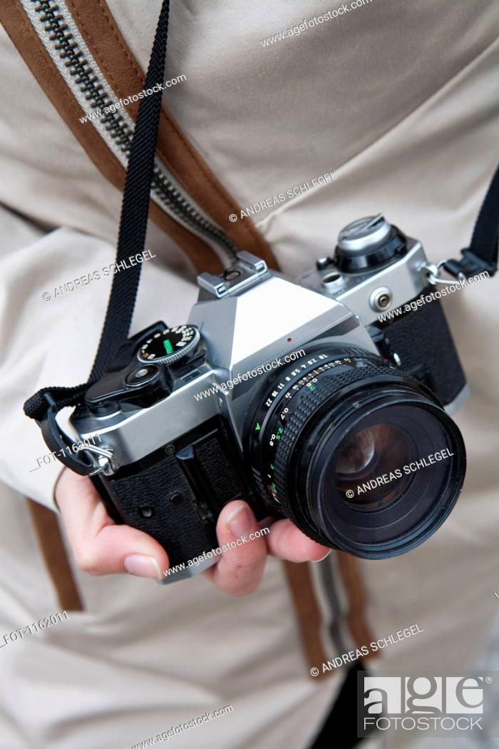 Stock Photo: Old style camera.
