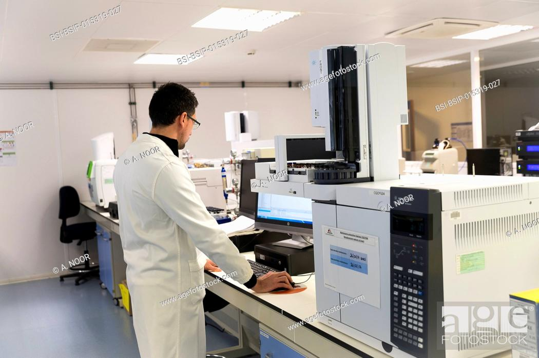 Stock Photo: Reportage in the French Arkopharma lab in Nice, France. This pharmaceutical lab is specialized in the phytotherapy, natural medicine and dietary supplement.