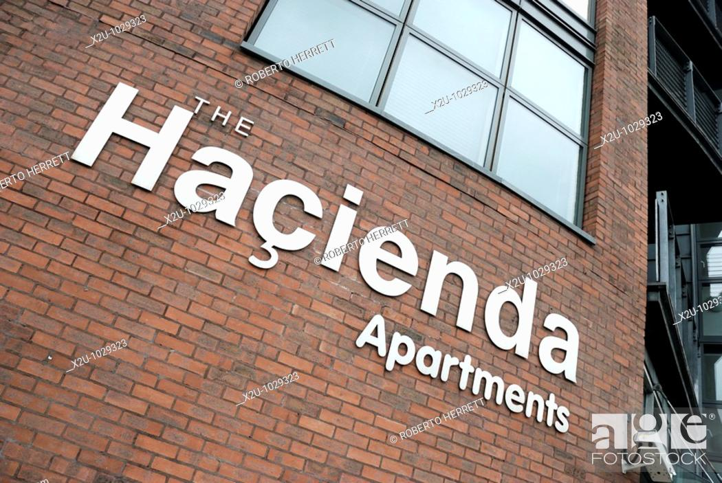 Stock Photo The Hacienda Apartments In Whitworth Street Manchester England Uk Site Was Formerly Occupied By Legendary Nightclub