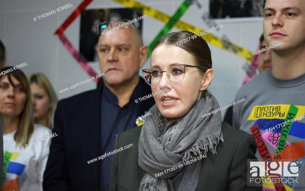Russian TV host Ksenia Sobchak opens her campaign office in