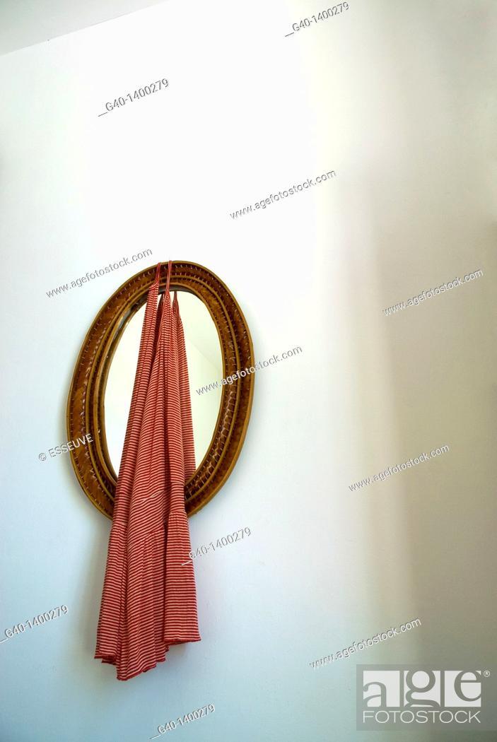 Stock Photo: Dress and Mirror.