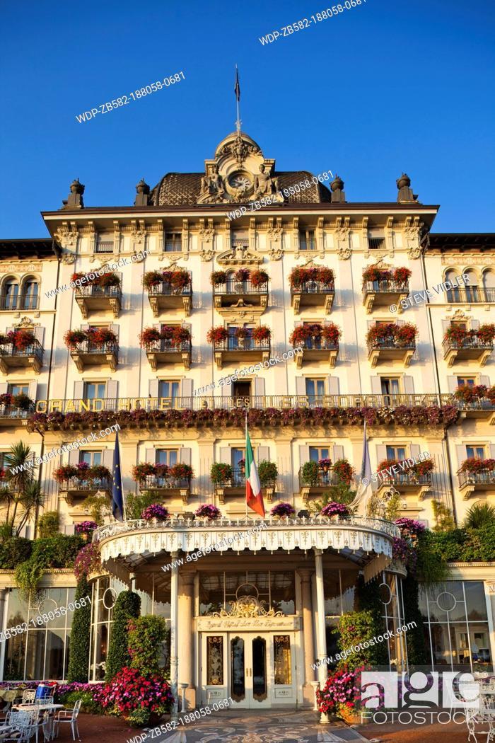 Stock Photo: Italy, Piedmont, Lake Maggiore, Stresa, Grand Hotel des Iles Borromees.