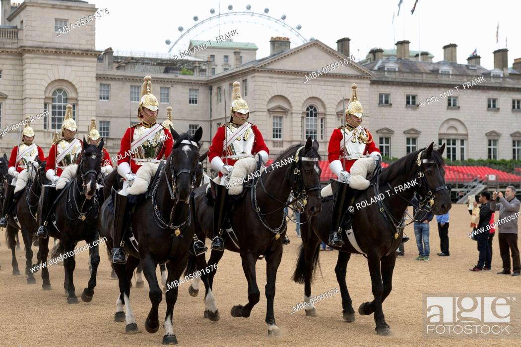 Stock Photo: England, London, Horse Guards is a building between Whitehall and Horse Guards Parade.