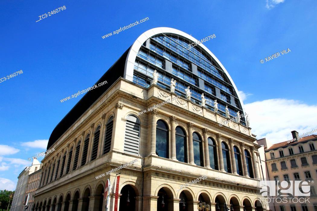Stock Photo: Opera house of Lyon, 1 Place de la Comedie, Rhone, Rhone Alpes, France.