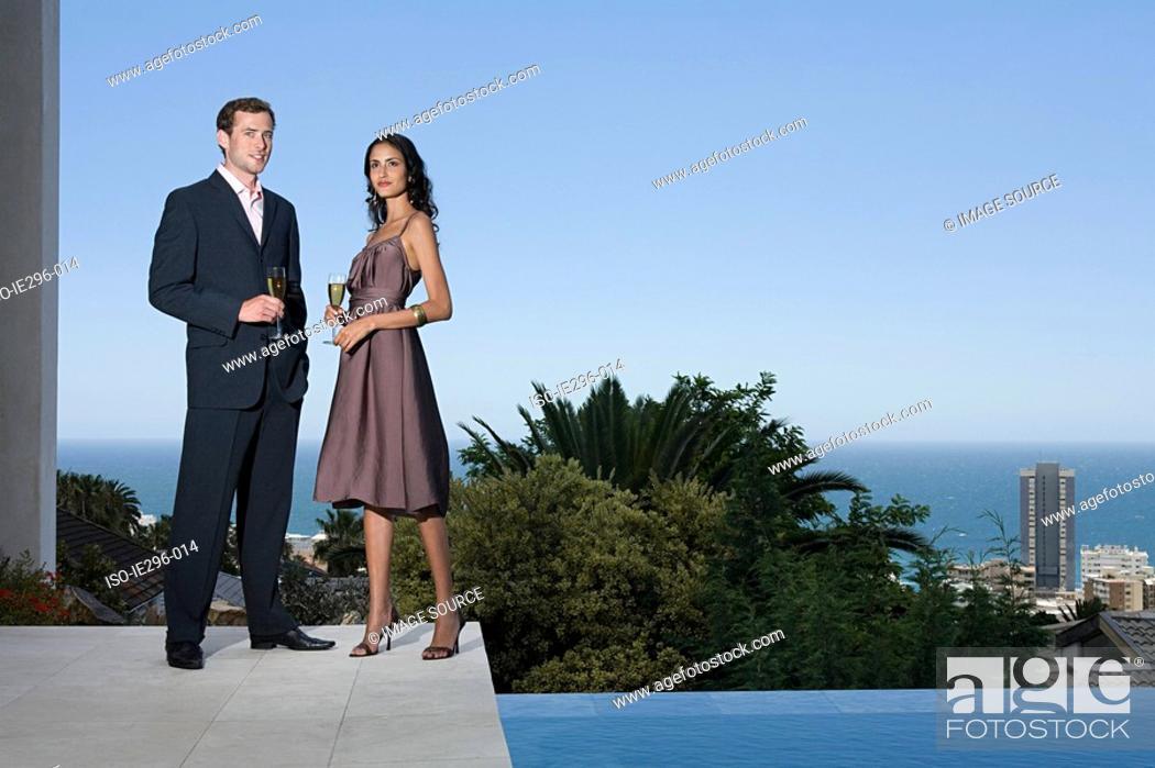 Stock Photo: Glamorous couple.
