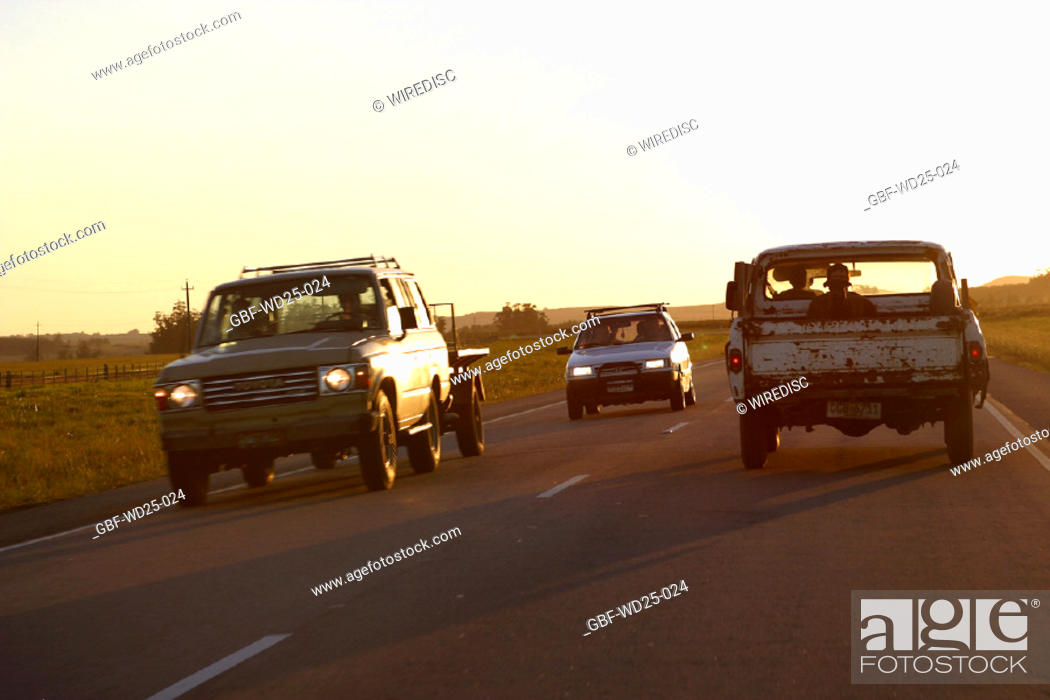 Stock Photo: Transport, road, pickup.