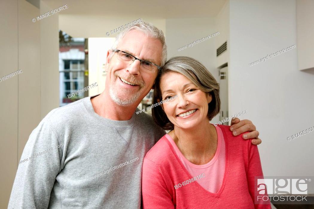 Stock Photo: Portrait of a maturel couple.