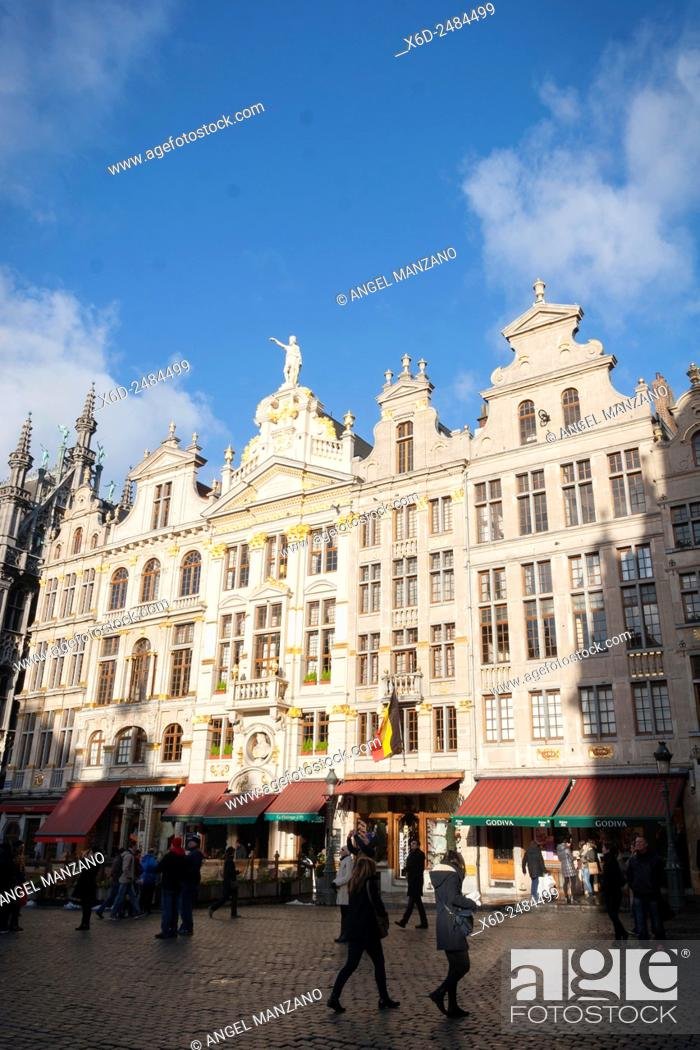 Stock Photo: Grand Place or Groote Mark, Brussels.
