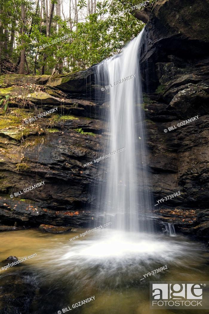 Stock Photo: Sweet Thing Falls on Slickum Creek - near Cleveland, South Carolina, USA.