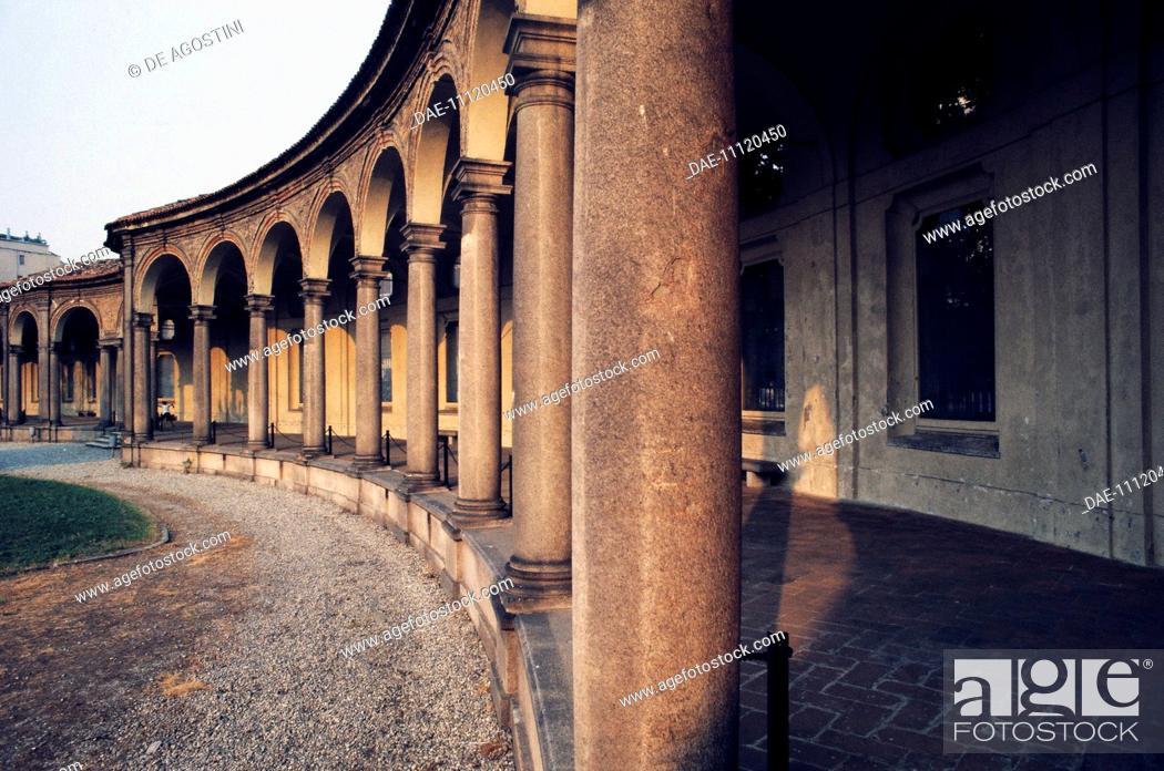 Imagen: The portico of the Rotunda of Besana, 1695-1719, Milan, Lombardy, Italy.