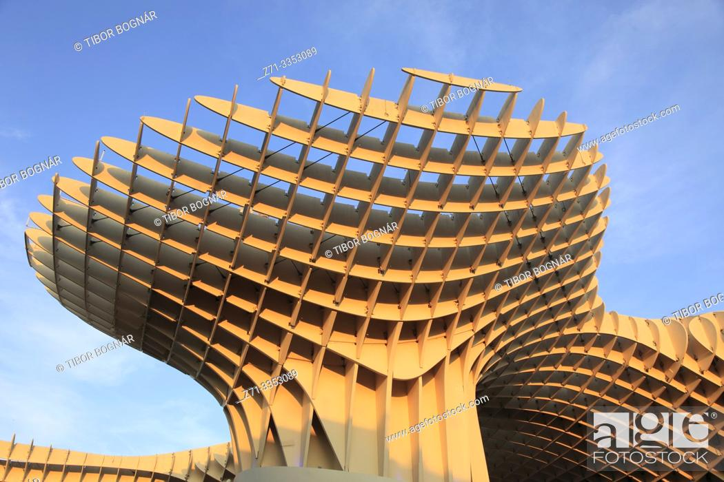 Stock Photo: Spain, Andalusia, Seville, Metropol Parasol, Las Setas, .