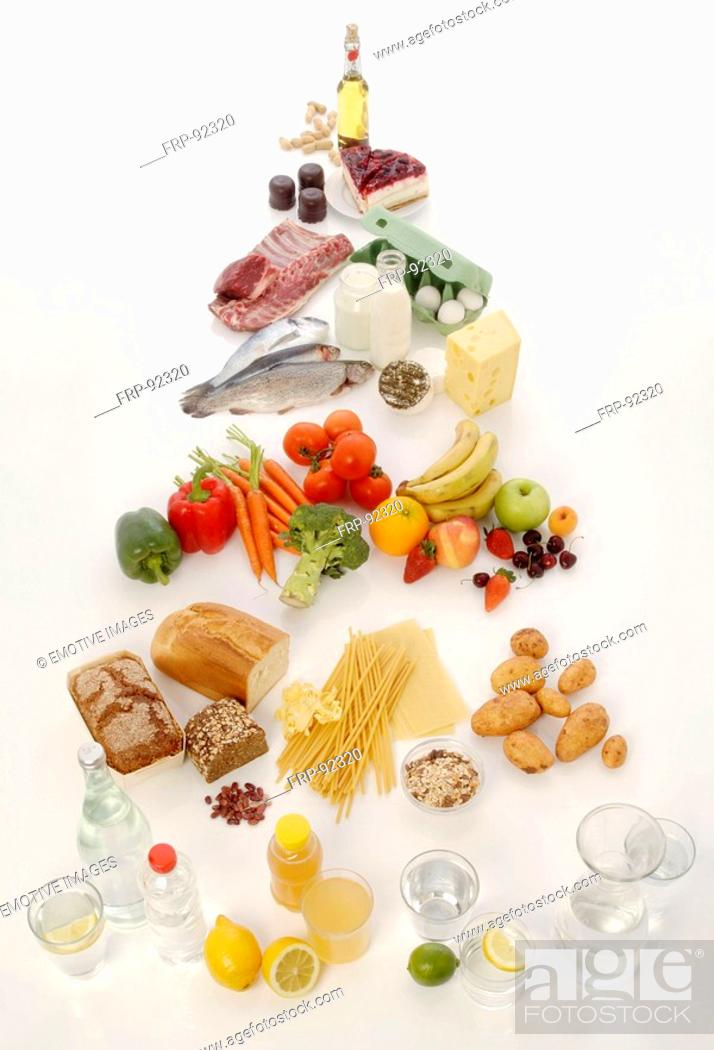 Stock Photo: Food pyramid.