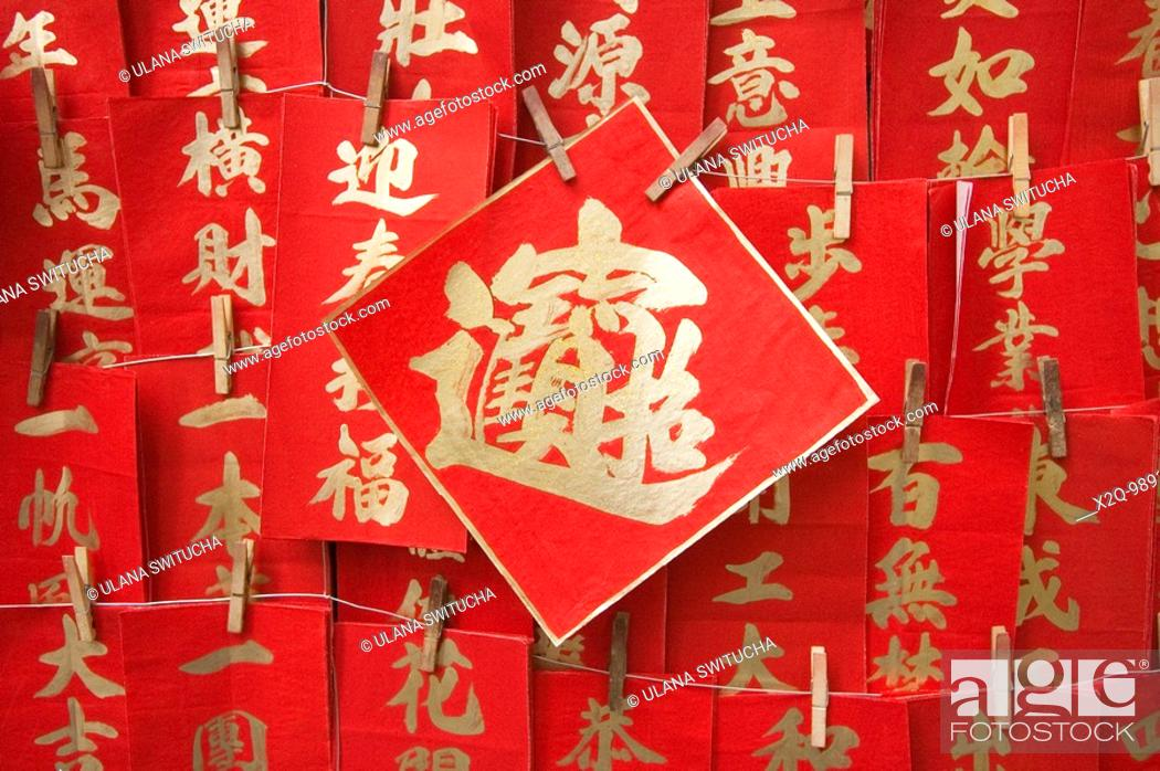 Stock Photo: Hand Painted Chinese Lunar New Year Decorations.