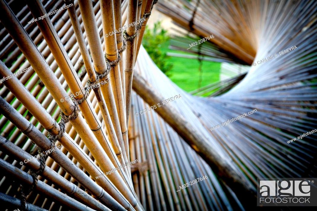 "Stock Photo: """"""""""""""""""""""La Vague de nuage verte"""""""" by Kinya Maruyama at Botanical Garden Jardin des Plantes in Nantes, Pays de la Loire, France, Europe.""."