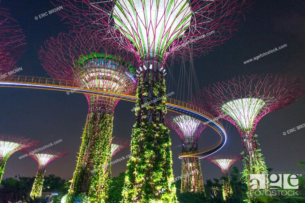 Stock Photo: Singapore's Gardens by the Bay.