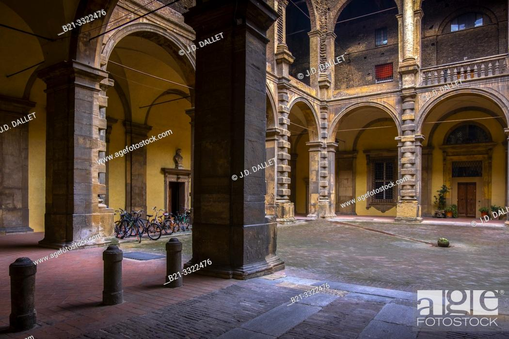 Stock Photo: Bologna- University of Bologna..The University of Bologna (Italian: Università di Bologna, UNIBO), founded in 1088, is the oldest university in continuous.