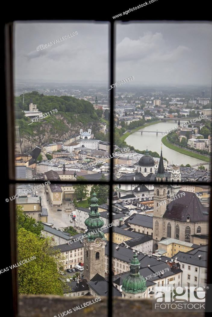 Stock Photo: view from the Fortress Hohensalzburg, Salzburg, Austria.