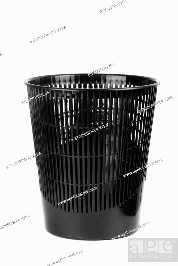 Stock Photo: black object isolated on white background, focus point on nearest part.