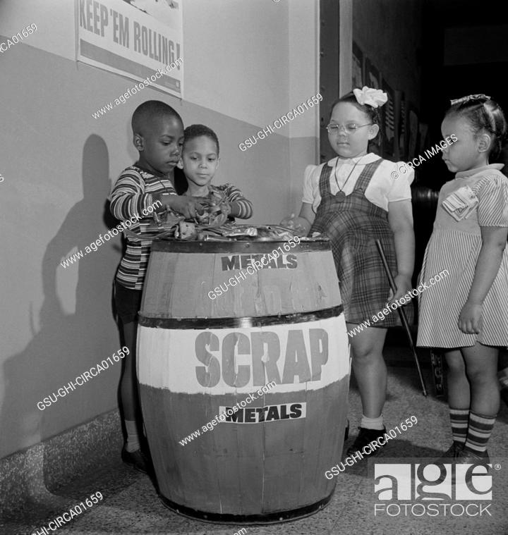 Children with Metal Scrap Collection at Grammar School