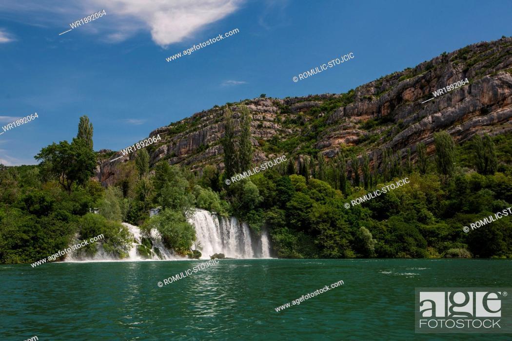 Stock Photo: Roski Slap waterfall, Krka National Park, Croatia.