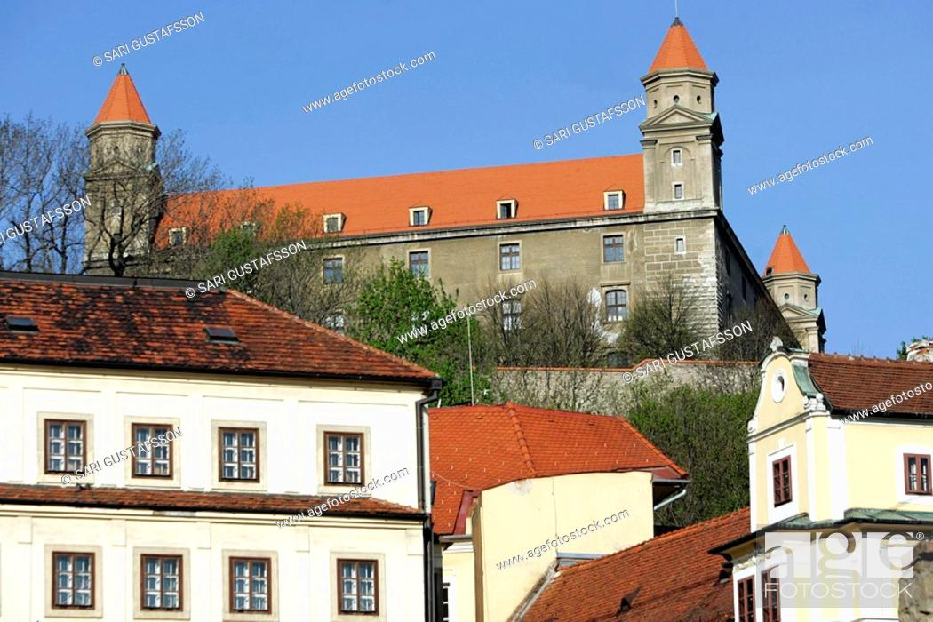 Stock Photo: The old castle of Bratislava on the hill in Bratislava, Slovakia.