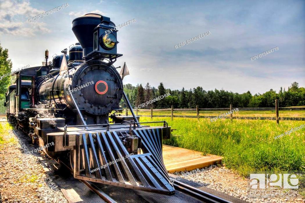 Stock Photo: Vintage Steam Locomotive.