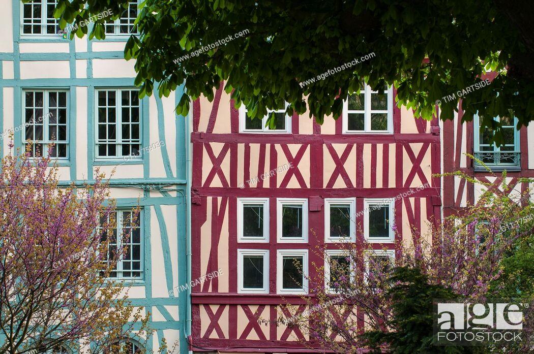 Stock Photo: Rue des Faulx, Rouen, France, Europe.
