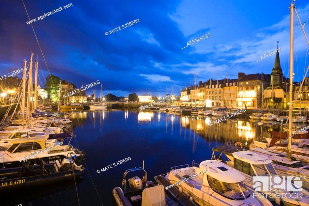 Stock Photo: Vieux Bassin (Old Port), Honfleur. Calvados, Basse-Normandie, France.