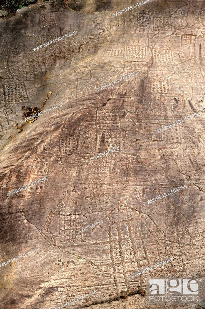 Slab with map and houses etruscan rock drawing bedolina val stock photo slab with map and houses etruscan rock drawing bedolina val camonica unesco world heritage site val camonica lombardy italy europe gumiabroncs Gallery