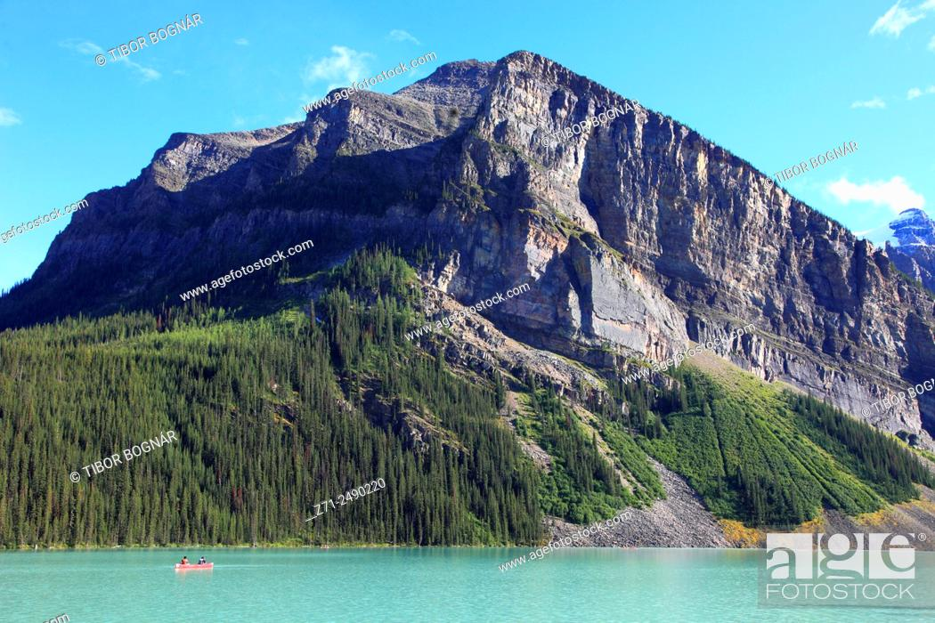 Stock Photo: Canada, Alberta, Banff National Park, Lake Louise,.