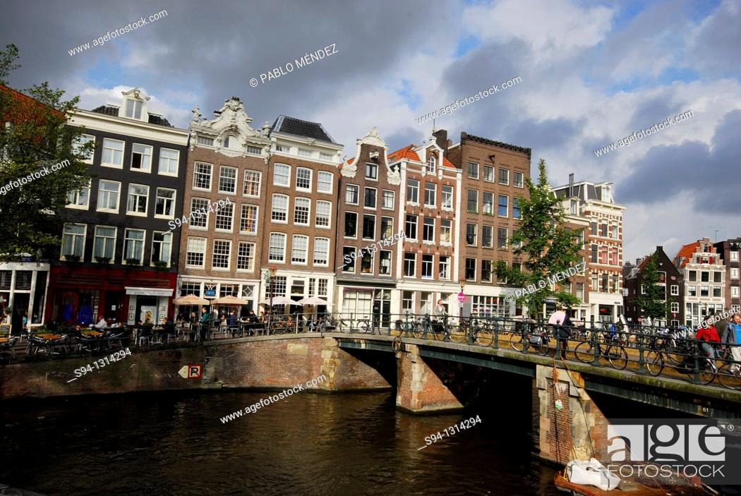 Stock Photo: Canal in Wester Markt of Amsterdam, Holland.