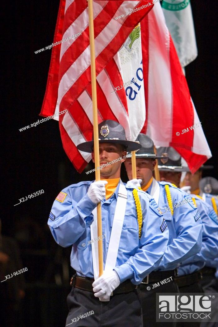 Chicago, Illinois - A color guard from the Wisconsin Department of