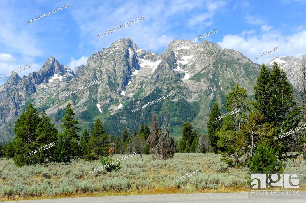 Stock Photo: Grand Teton National Park Wyoming WY United States.