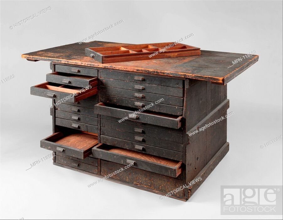 Stock Photo: Work bench from Tiffany Studios. Maker: Tiffany Studios (1902-32); Date: 1900-1907; Geography: Made in New York, New York.