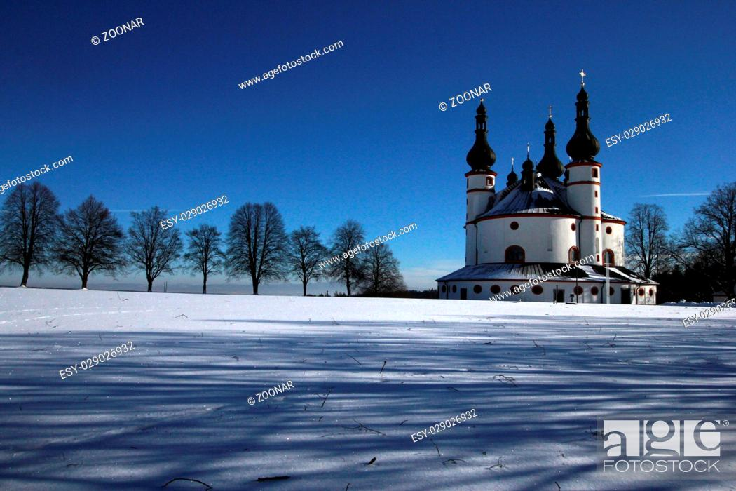 Stock Photo: The church Kappl near Waldsassen.