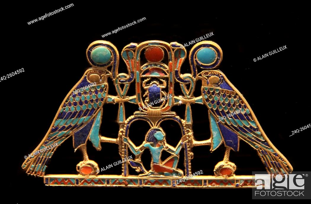 Imagen: USA, New York, Metropolitan Museum, from the tomb of SitHathorIunet, daughter of Senusret 2, Egypt, el-Lahun : A pectoral with the name of Senusret 2.